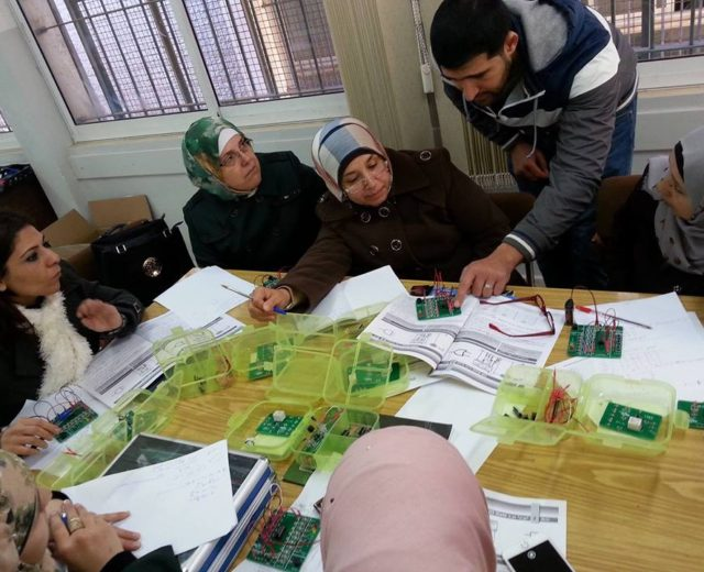 UNRWA in Palestine at west bank adopted Seek kit system in their science laboratory in their educational institutions