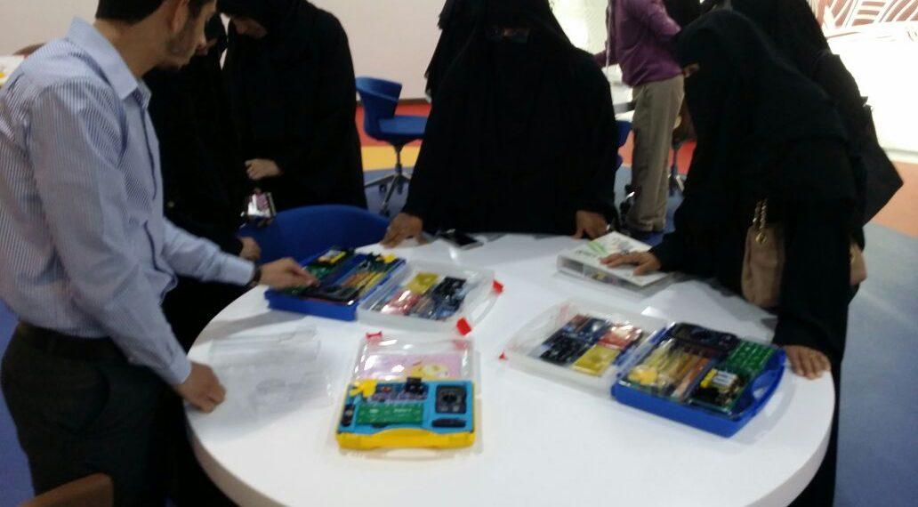 جانب من مشاركة شركة سيك العالمية في معرض المصادر التعليمية المطورة